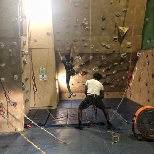 Rock climbing date night idea